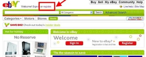 Register(登録)をクリック